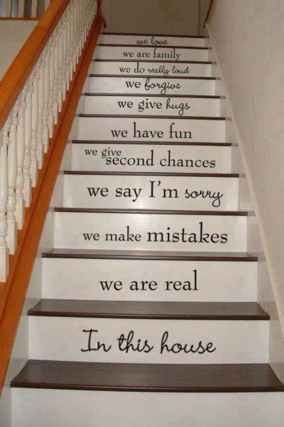 Escada feliz!