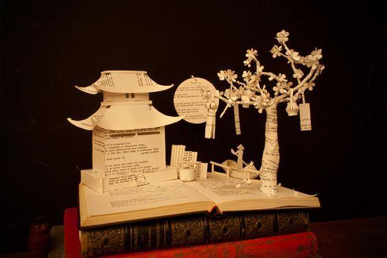 Karine Diot bookish sculpture