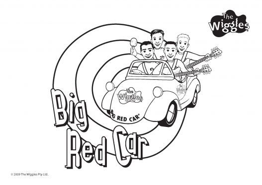 Big Red Car The Wiggles Coloring Pages For Kids