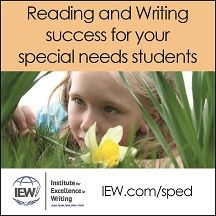 INSTITUTE FOR EXCELLENCE  IN WRITING--LANGUAGE ARTS FOR YOUR STRUGGLING LEARNER  http://iew.com/sped