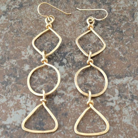 Geometric 14K Gold Filled Earrings