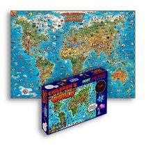 500 Piece Map Jigsaw Puzzle - World - loads of great geographic fun stuff here