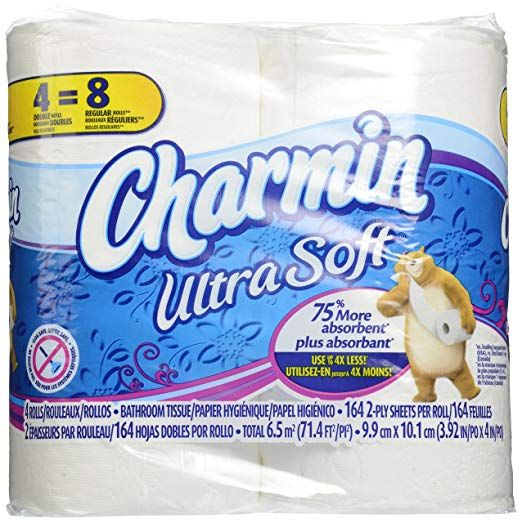 Charmin Ultra Soft Toilet Paper Double Rolls 164 Sheets 4 Rolls