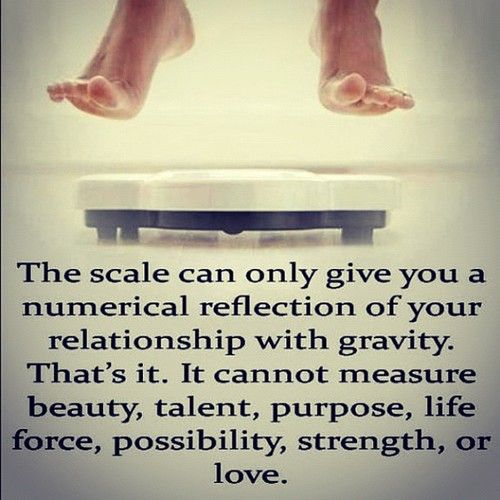 the scale.