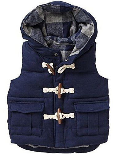 Vikoros Little Boys' Down Vest Winter Puffer Bubble Vest Vikoros