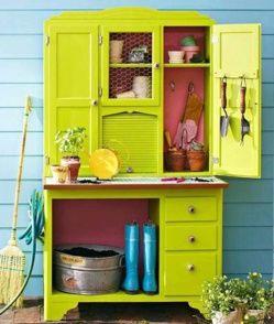 ranger ses outils de jardin des id es art nature pinterest ranger and repurposed. Black Bedroom Furniture Sets. Home Design Ideas