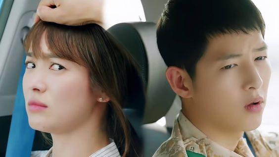 Momen lucu Song Joong Ki dan Song Hye Kyo | Descendants Of The Sun funny...