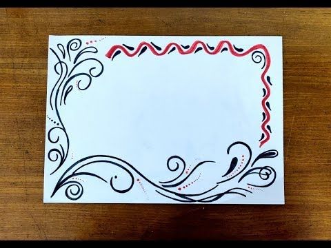 Diy Sketch Pens Simple Easy Decorative Border Design For Project File Back To School 442 Border Design Colorful Borders Design Page Borders Design