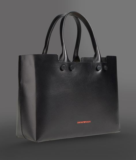 Emporio Armani calfskin bag with inner pouch