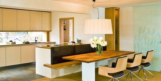 Lösung mit Bank und Tisch Kitchen ideas Pinterest Bänke - esszimmer komplett g amp uuml nstig