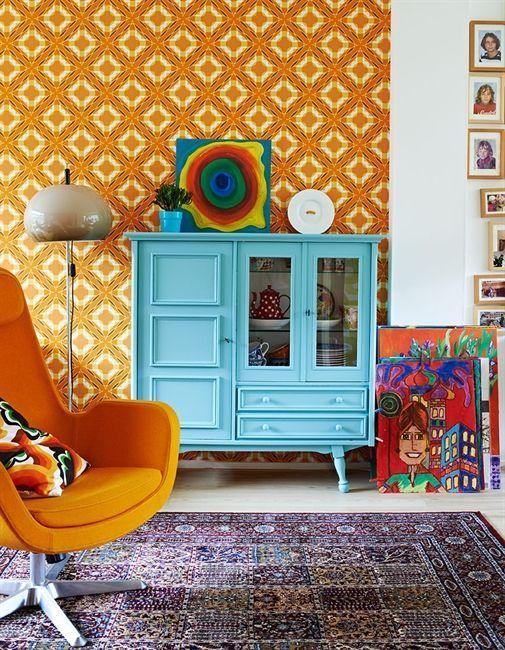 A casa colorida com um orçamento na Holanda
