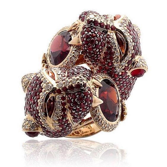 #Unique beauty by #ZorabCreation! #fierce #red #jewels #diamonds #stones #animal #jewelry #beautiful #instagood #picoftheday #gold #cute #like #luxury #newluxuries #amazing #design