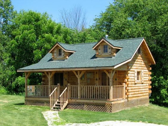 Build your own log cabin interesting digital imagery for Hunting cabins kits