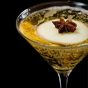 Make an apple pie martini or mocktini recipe for the quintessential fall and winter martini recipe. A little bit of allspice, that great blend of clove, cinnamon, and nutmeg that give apple pie its flavor, is added to apple cider and vodka and it's garnished with a cinnamon stick. Enjoy!