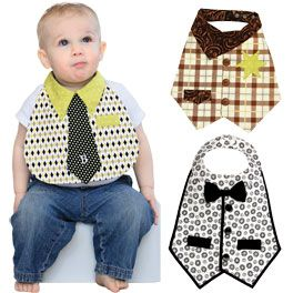 Dude Babies Bib Pattern ($9.48): Dress up your little man in 3 different style bibs: Mr. Businessman, Mr. Cowboy and Mr. Formal. Your baby boy will be the star of the show while keeping himself clean! Fits baby boys size 6-18 months. {clotilde.com}