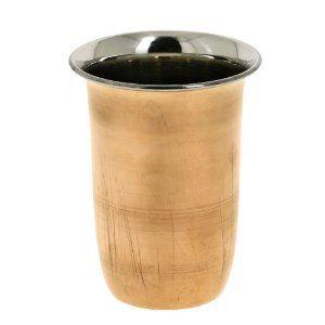 Recto vaso vidrio hogar decoración India vajilla vajilla de cobre acero: Amazon.es: Hogar