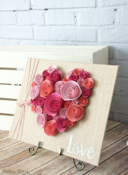 Easy Spiral Paper Flower Heart | Spiral curls, Wedding and ...