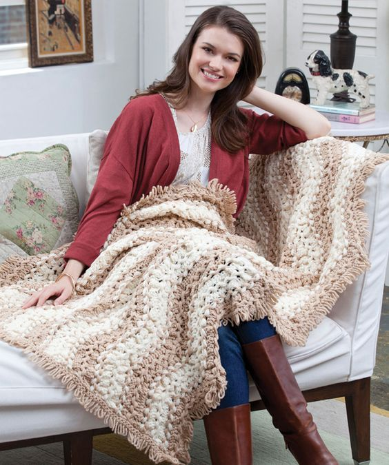 Waverly Place Throw Free Crochet Pattern From Red Heart Yarns Ahh
