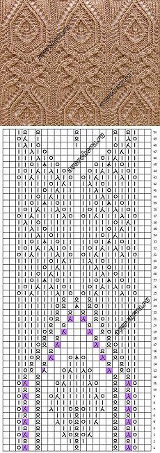 ◇◆◇ Узор 757 | каталог вязаных спицами узоров: