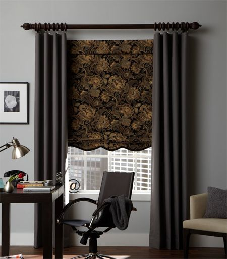 Curtains Ideas curtain rod roman shades : Flat Style Custom Drapery Panel-Single Width (C.O.M. ...