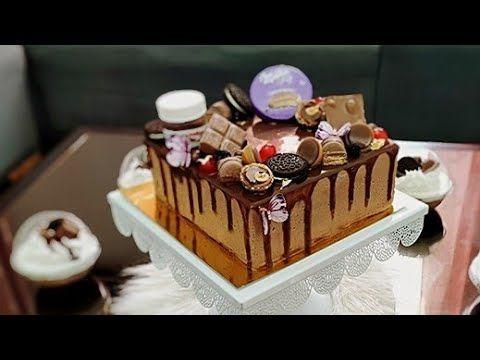 كيكة عيد الميلاد بموس الشوكولاتة و الكراميل Gateau D Anniversaire Youtube Cake Desserts Desserts Cake