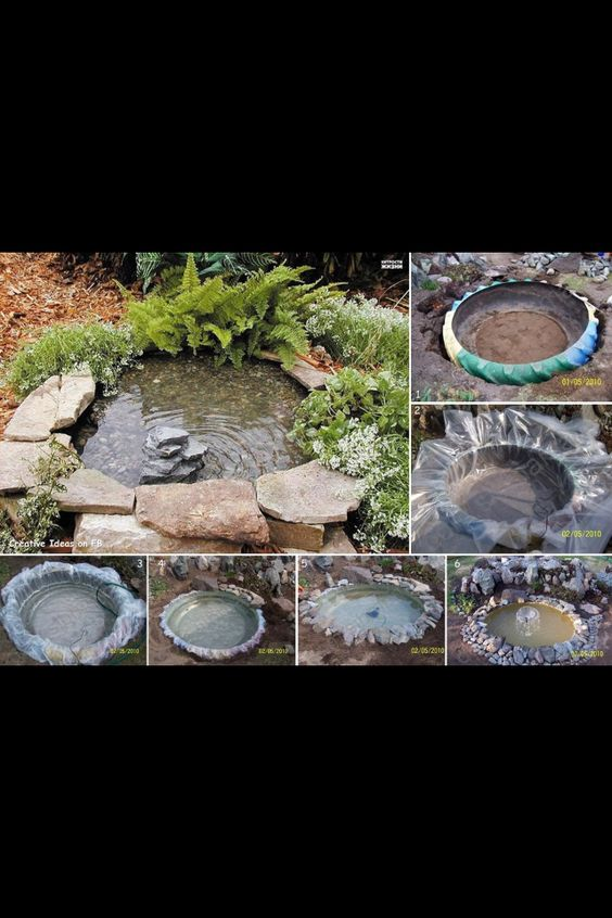 Easy To Make Pond In The Backyward Home Decor
