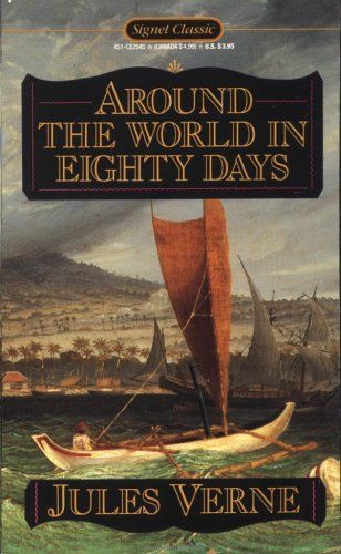 Classic adventure novel by the French writer Jules Verne, published in 1873. In the story, Phileas Fogg of London and his newly employed French valet Passepartout attempt to circumnavigate the world in 80 days on a £20,000 wager (roughly £1.6 million today) set by his friends at the Reform Club. It is one of Verne's most acclaimed works.: