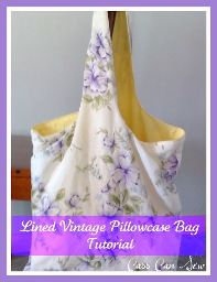 Market bag from vintage pillowcases