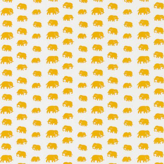 Textil Elefant Bomull: