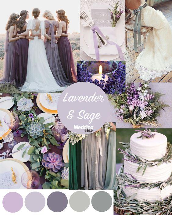 Lavender & Sage wedding scheme inspo by Wedding Ideas Magazine