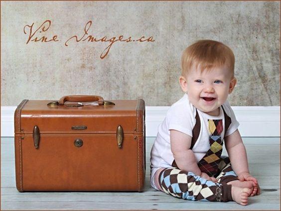 Little Fella Suspender & Tie Onesie or Shirt - Stetson Argyle - Little Star Sweeper