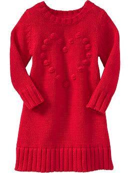 Toddler Girls - Popcorn-Heart Sweater Dresses for Baby - Old Navy ...