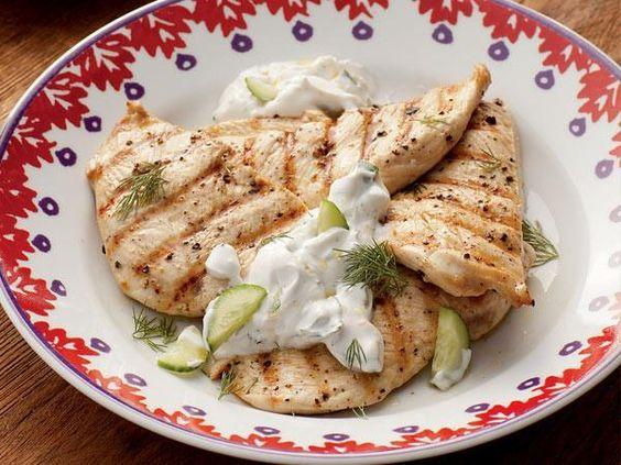 Grilled Chicken With Cucumber-Dill Yogurt Sauce