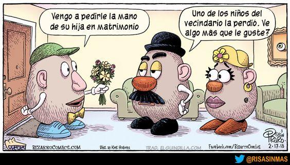Pidiendo la mano de la hija de Mr. Potato.
