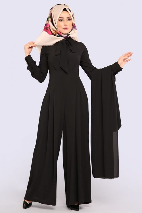 Modaselvim Tulum Yelekli Tulum Kombin 6537m108 Siyah The Dress Elbise Kiyafetler Moda