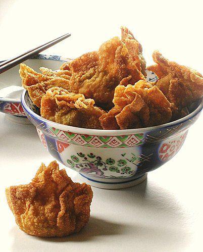Raviolis de porc frits
