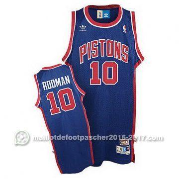 maillot nba pas cher Dennis Rodman #10 bleu Detroit Pistons