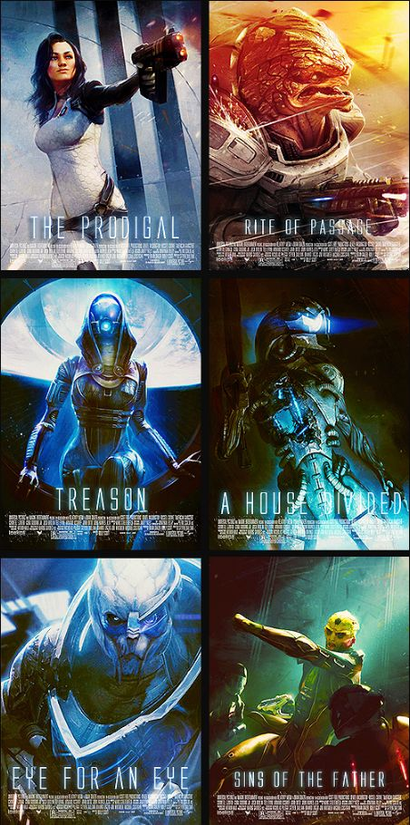 Mass Effect 2 loyalty mission posters..