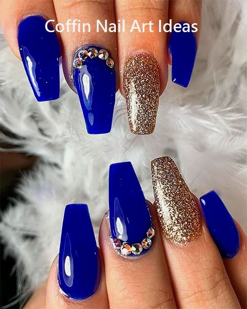 20 Trendy Coffin Nail Art Designs 2 With Images Quinceanera