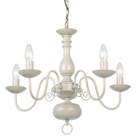 Master dressing room? You've pinned this before I think. The Posey is a traditional five light chandelier, finished in a cream Flemish, which has a dual mount option making it suitable for low ceiling areas.