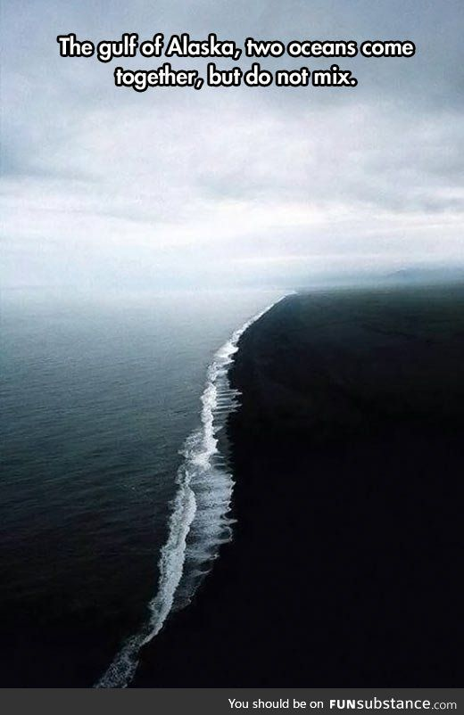 Two oceans come together