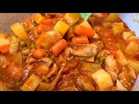 Pollo Guisado O Estofado Riquísimo Y Fácil De Hacer Youtube Receta Estofado Pollo Gourmet Pollo Guisado