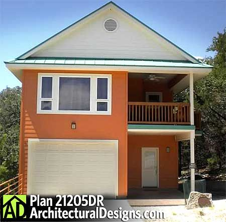 Plan 21205dr two bedroom carriage house house plans for Small garage apartment