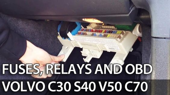 Where To Find Fuses Relays And Obd Port In Volvo C30 S40 V50 C70
