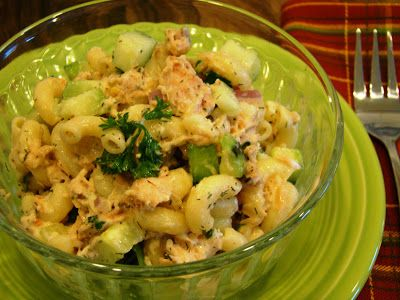 Salmon Macaroni Salad with Cucumbers: Soup Spice Everything Nice