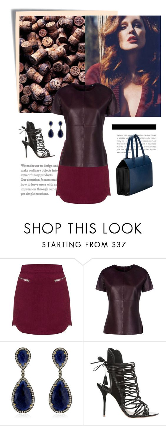 """wine"" by soni4ka ❤ liked on Polyvore featuring Post-It, Goldie, JULIANNE, 8, ADORNIA and Sophia Webster"