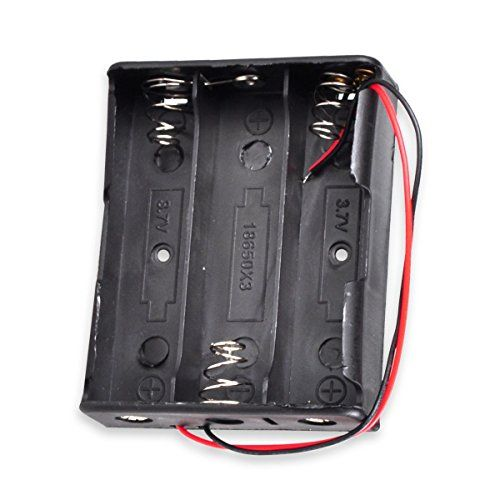 4-Slots 3.7V Wire Lead Battery Storage Box Holder Case for 18650 Button Pack of 4