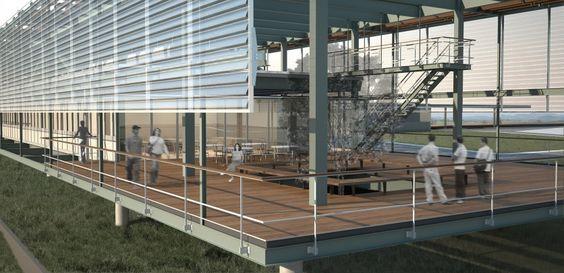 Concurso Nacional para o Centro de Informações do COMPERJ - Petrobrás - Andrade Morettin Arquitetos - Andrade Morettin Arquitetos