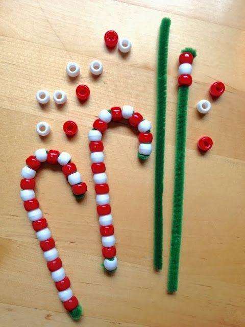 Bricoler de belles cannes de Noël avec les enfants!