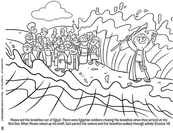 Moses and the Red Sea FREE coloring